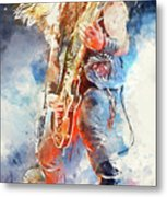 Zakk Wylde - Watercolor 09 Metal Print