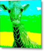 Zany Giraffe Metal Print