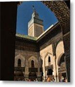 Zaouia El Tijaniya Mosque In Fes Morroco Metal Print