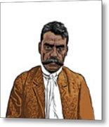 Zapata Metal Print