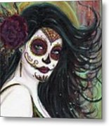 Zatina Day Of The Dead Metal Print