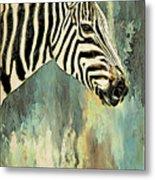 Zebra Abstracts Too Metal Print