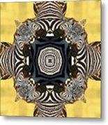 Zebra Cross Metal Print