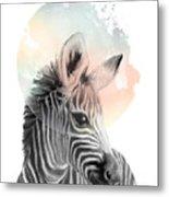 Zebra // Dreaming Metal Print
