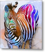 Zebra Dreams Metal Print