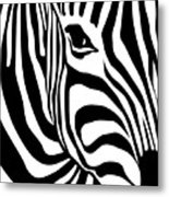 Zebra Metal Print by Ron Magnes