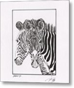 Zebra Series 6 Metal Print