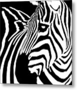 Zebra Works Metal Print