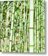 Zen Bamboo Forest Metal Print