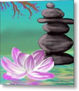 Zen Pool- Turquoise Metal Print