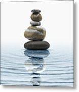Zen Stones In Water Metal Print