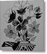 Zentangle 16-01 Metal Print