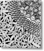 Zentangle Inspired Design Metal Print