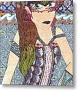 Zentangle Queen  Metal Print