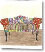 Zentangle Sofa Metal Print