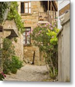 Zeytinli Village Cobblestone Lane Metal Print