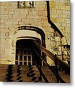 Zig Zag Shadows At Clifford's Tower, York, England Metal Print