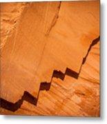 Zigzag Sandstone Metal Print
