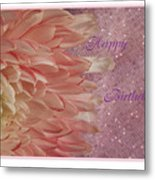 Chrysanthemum Birthday Metal Print