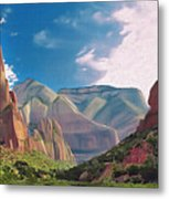 Zion Cliffs Metal Print