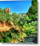 Zion In The Morning Metal Print