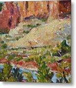 Zion Mountain Cliff Metal Print