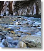 Zion National Park Narrows Metal Print