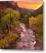 Zion National Park The Watchman Metal Print