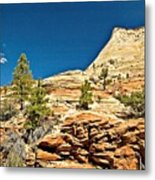 Zion National Park Vista Metal Print