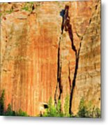 Zion Rock Wall Metal Print