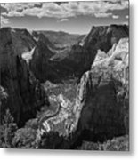 Zion Valley From Observation Point Metal Print