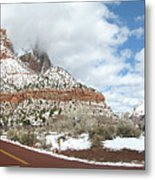 Crossroads, Zion Valley Metal Print