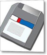 Zip Disk Metal Print