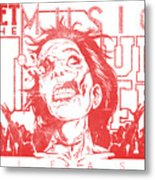 Zombie Music Metal Print