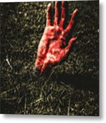Zombie Rising From A Shallow Grave Metal Print
