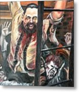 Zombies Attack Metal Print