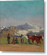 Zommer, Richard 1866-1939 In The Mountains Of Alatau Metal Print