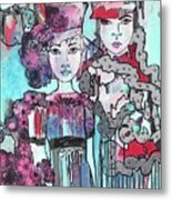 Zoni.girl Haute Couture Metal Print