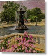Zoo Fountain 2 Metal Print