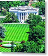 Zoomed In Photo Of The White House Metal Print