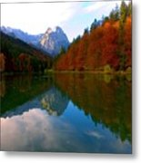 Zugspitz And Riessersee Garmish Germany Metal Print