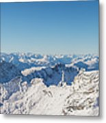 Zugspitze Observatory Panorama Metal Print