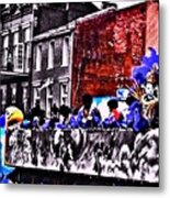 Zulu Krewe In Red And Blue Metal Print