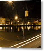 Zurich At Night Metal Print