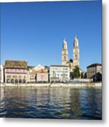 Zurich Cathedral Metal Print