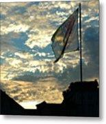 Zurich Griffin Flag At Sunset Metal Print