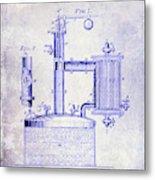 1878 Beer Boiler Patent Blueprint Metal Print