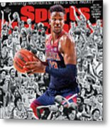 2018 March Madness College Basketball Preview Issue Sports Illustrated Cover Metal Print