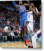 76ers Vs Thunder Metal Print