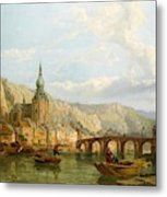 A View Of Dinant Metal Print
